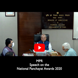 Click here - MPR Speech on the occasion of Panchayat Award 2020